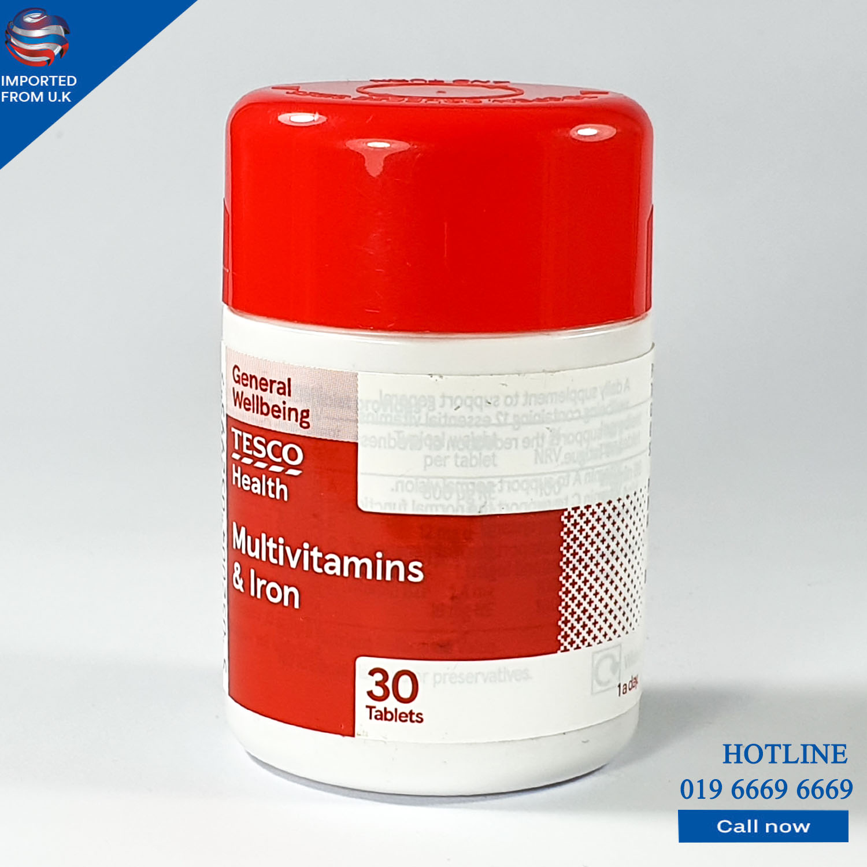 Multi Vitamins & Iron (Tesco) 30 Tablets