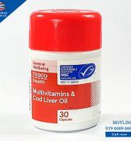 Multi Vitamin plus Codliver Oil (Tesco) 30 Capsules